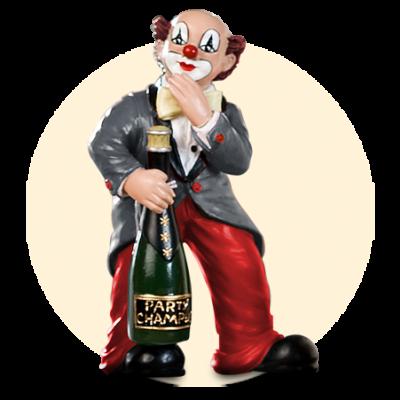 Party Clown Flasche auf Fuß