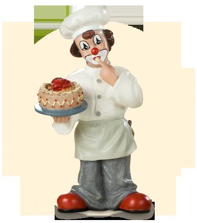 Koch mit Torte