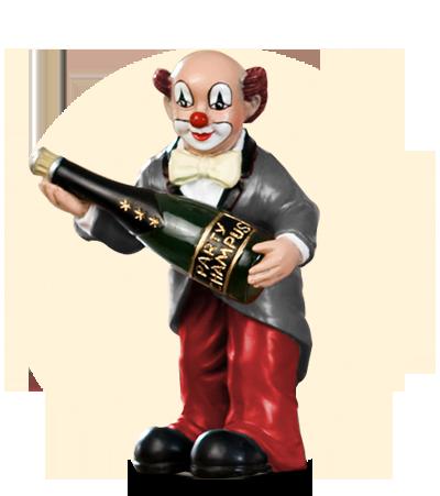 Party Clown Flasche hoch
