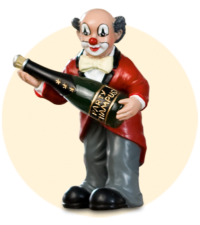 Party Clown Flasche hoch