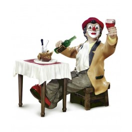 Clown eating a broiles chicken (2005)