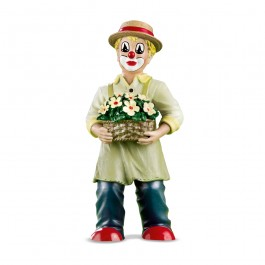 Clown With Flower Basket