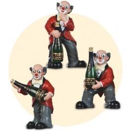 Le clown de fête avec veste rouge