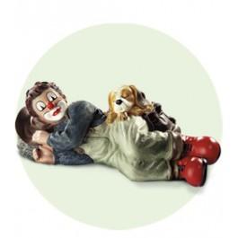 Clown avec chien et sac à dos (2005)
