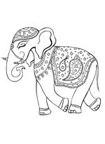 Malvorlage - Elefant