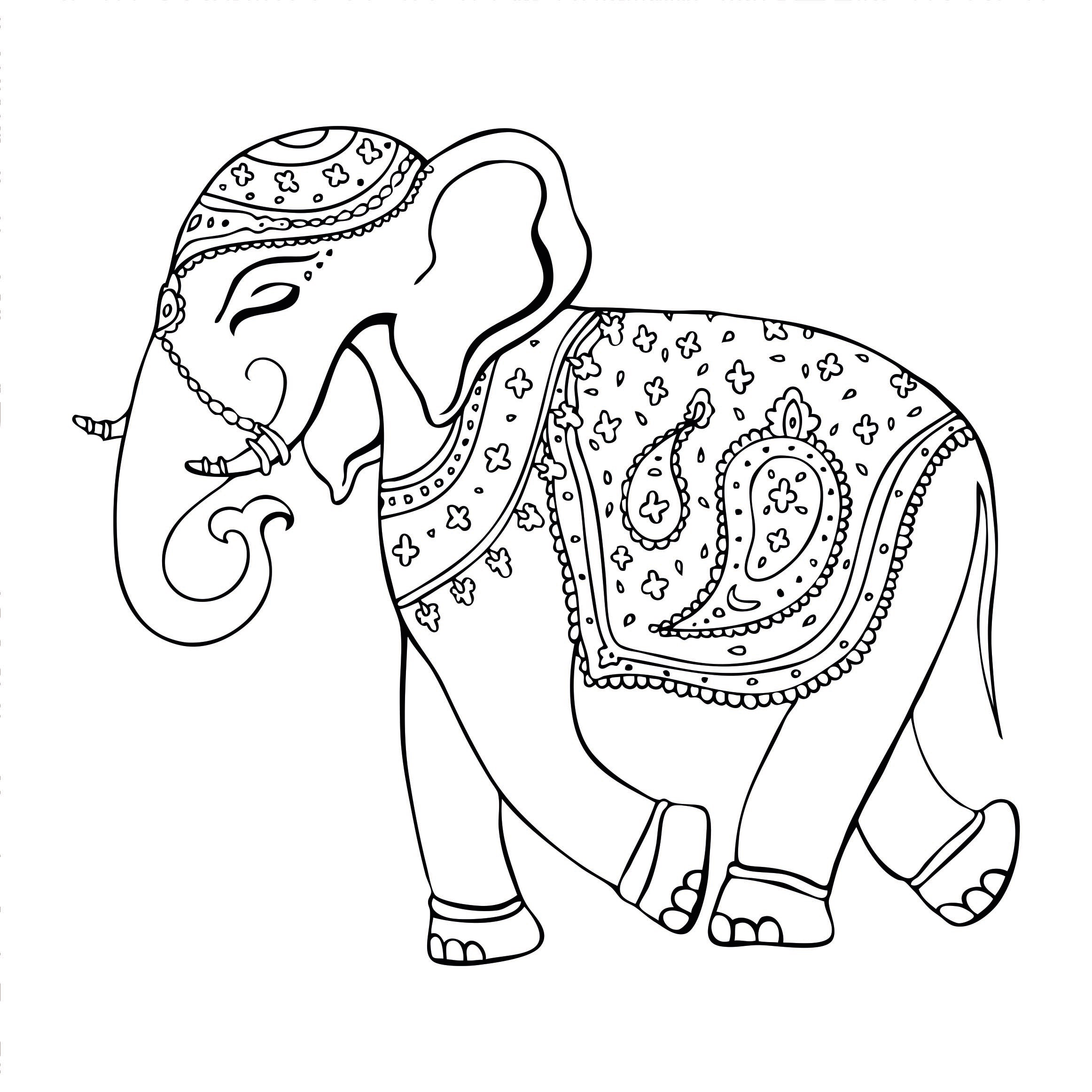 Atemberaubend Elefanten Mandala Malvorlagen Fotos ...