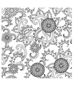 Malvorlage - Mandala Motiv